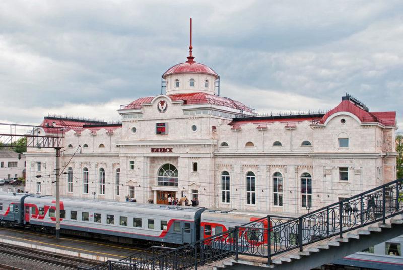 ЖД вокзал города Ижевск